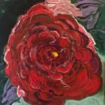 """Big Red"", acrylic on canvas, 40"" x 36"""