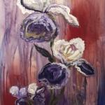 """Iris"", acrylic on canvas, 48"" x 30"
