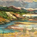 """""""Eagles View"""", acrylic on canvas, 24"""" x 40"""""""