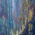 """Passage"", acrylic on canvas, 48"" x 16"""